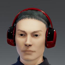 RED 'N' BLACK TWISTED HEADPHONES