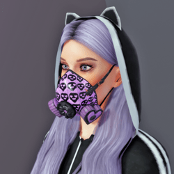 Gas Mask Respirator Violet