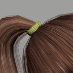 Elastic for Pony Tail - Green
