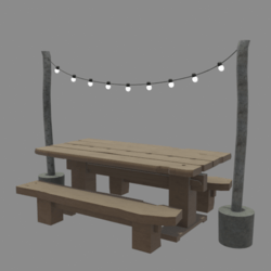 Winter wooden table