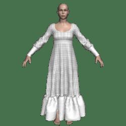 Long Ruffle Gown - Checks-n-Jersey