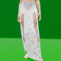 Simple Split Skirt Paint Splatter (TM)