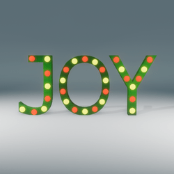 Joy Marquee Blinking Sign