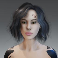 Tattoo Kanjii Face female