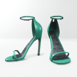 Ankle strap sandals for Nicci - leather biscay green