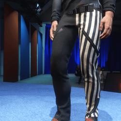 FREE Freak Pants: Black & White Stripe - Male