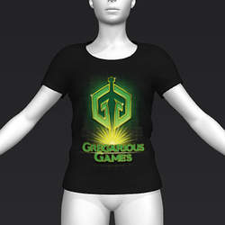 Ready Player One: Gregarious Games T-Shirt (Black) (W)