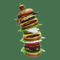 Big Hamburger not straight
