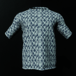Blue Camo Male T-Shirt