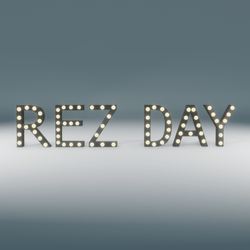 Rez Day Marquee Blinking Sign
