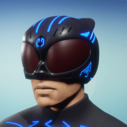 BioArmor Helmet Male Blue Light
