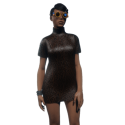 Tube Dress Brown