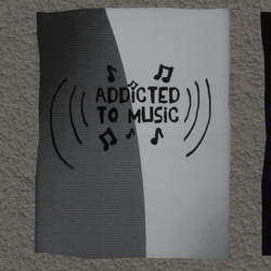 addicted to music wall poster