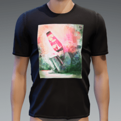 Tshirt with Glowing Animated Lavalamp