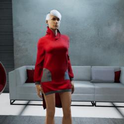Hip Hop Dress red