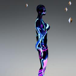 Avatar female animated neon