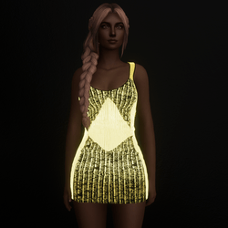 Golden Emissive Party Dress