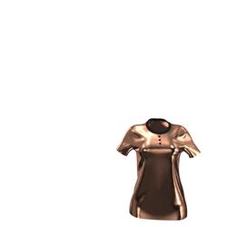 New! Luxury Bronze Velvet Polo-Shirt