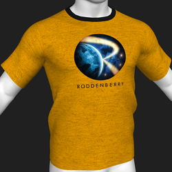 Star Trek Mission Log - Roddenberry T-Shirt - Yellow - Male