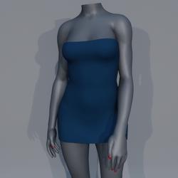 Very Short Sexy Mini Dress - Blue