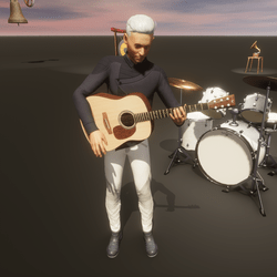 Guitar Animation, acoustic strumming