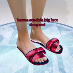 hanna sandals big lace deep red