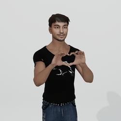 Heart fingers for Male