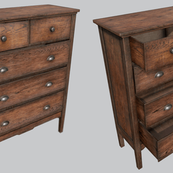Old Wooden Dresser B