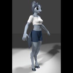 Female Pony Avatar - Slate - by Ember