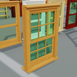 Box Sash Window Furniture With Bars Oak