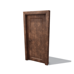 DoorSet B [Grunge wood]