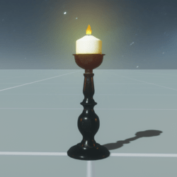 Candle With Fire_Tall