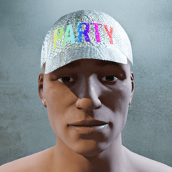 Party Hat with animation and glow