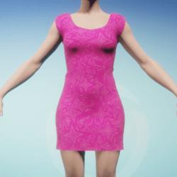 Pink Stars Women's Dress