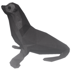 Sitting Seal