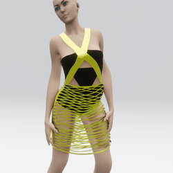 Strappy Dress Black And Gold(TM)