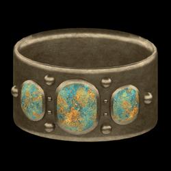 Cabochon Bangel Bracelet - Brass