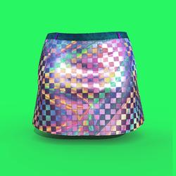 Iridescent Miniskirt