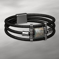 wrapped bracelets silver - MALE