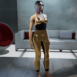 Jumpsuit metallic bronce