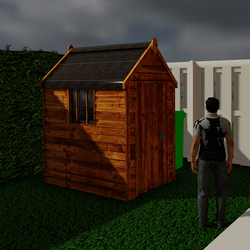 Wooden Garden Shed revised