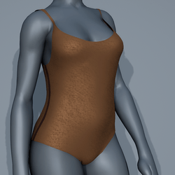 Body Swimsuit - Cream and Brown