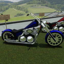 Blue Bike Attachment