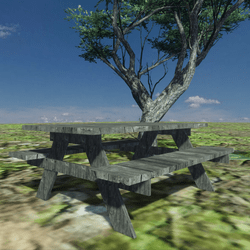 WOOD PICNIC TABLE -OUTDOOR