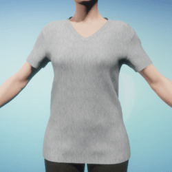 Oversize Women's Grey V-Neck T-Shirt 7 Jan 2018
