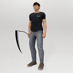 Scythe - Male - Black