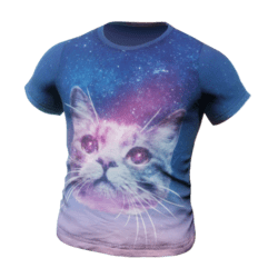 T-Shirt Space Cat - Male