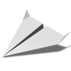 Paper Airplane 02 - White - Collision Mesh