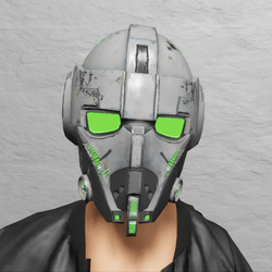TKA Helmet Scifi Green Emissive & UV Animation ( Men )
