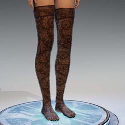 Lighter Transparent Stockings Bleck